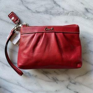 COACH // Leather Wristlet // NWT